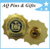 USA Metal Gold Police Officer Badge in Soft Enamel (badge-124)