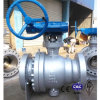 Worm Gear Operation Carbon Steel/CF8 Flange API Ball Valve