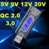 USB 5V 9V 12V 20V QC 2.0 3.0 OLED Current Voltage Charger Capacity Tester USB Charger Doctor Power Meter Text Voltmeter
