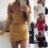 Women's Fashion off Shoulder Denim Jean Wide Bell Bottom Jumpsuit Romper Esg10246