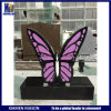 Absolute Black Granite Headstones with Butterfly Shape
