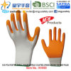 13G Polyester Shell Foam Nitrile Palm Coated Gloves (N1000) Criss-Cross on The Palm with CE, En388, En420, Work Gloves
