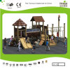 Kaiqi Medium Sized Wooden Forest Themed Children′s Playground with Slides and Tunnels (KQ20058A)