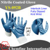 "Interlock Glove with Blue Nitrile Full Coating & Knit Wrist/ EN388: 4111/ Size 7"", 8"", 9"", 10 (YS-092B)"