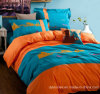 100% Cotton Solid Color Embroidery Bedding Set