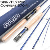 Hot Sale 7FT Carbon Spinning Fly Fishing Convert Rod