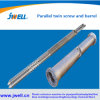 China Manufacturer Bimetallic Single Concial Parallel Twin Screw Barrel for Jwell Extruder