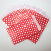 Eco-Friendly DOT Red Paper Treat Bags for Party