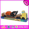 Mini Excavator Toy Trailer for Kids, Tractor Trailer Toy Trucks for Children, Wooden Toy Trailer Truck Toy for Baby W04A081