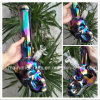 14 Inch Colorful Rainbow Skull Smoking Water Pipes Tobacco Pipes Smoking Bong
