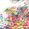 600PCS/Packet Colored Soft Crystal Soil Water Paintball Gun Bullet Grow Water Beads