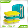 Reusable-Easy to Clean Lunch Kit Containers with Easy Knife and Fork Storage on Lid Included, Lunchbox for Adults and Kids