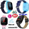 4G IP67 Waterproof Thermometer GPS Tracker Watch Phone with Global Video Call