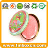 Oval Gift Soap Tin Box for Cosmetic Metal Can Packaging