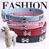 Bling Bling Rhinestone Dog Collars with Small Bones