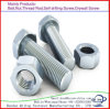 Galvanized Carbon Steel Hex Head Bolt with Nut DIN 933/DIN931