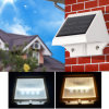 Mini 4LED Outdoor LED Fence Garden Lamp Solar Wall Light