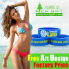 Custom Silkscreen Eco-Friendly Charm Silicone Rubber Bracelet for Gift