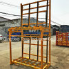 Steel Material Double Layer L Shape Storage Glass Rack