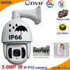 200m IR 5.0 Megapixel IP PTZ CCTV Dome Camera
