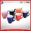 Wholesale Colorful Ceramic Mug with Spoon Holder in Handle