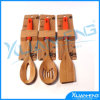 Eco-Friendly Cooking Tool Bamboo Spoon with Silicone Handle