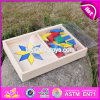 New Design Toddlers Preschool Wooden Geometric Block Puzzle W14A161