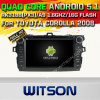 Witson Android 5.1 Car DVD GPS for Toyota Corolla 2008 with Chipset 1080P 16g ROM WiFi 3G Internet DVR Support (A5749)