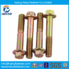 Partial Thread Color Zinc Plated Flange Bolt Without Serrated