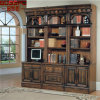 Malaysia Antique Wood Book Cabinet Bookcase (GSP18-013)