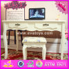 2017 Wholesale Fashion Wooden Bedroom Vanity Furniture, Solid Wooden Youth Bedroom Vanity Furniture W08g192