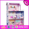 New Style 3 Floor Girls Pretend Play Wooden Dollhouse Cottage W06A224
