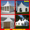 White Aluminum PVC High Peak Pagoda Tent for 50 People Seater Guest