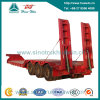 Three Axle Low Bed Semi Trailer with Hydraulic Ladder