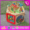 2015 Big Wooden Multifunctional String Beads Toy, Innovative Kid Wooden String Beads Toys, Educational Toy Cubic Wire Bead W11b061