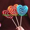 80g Big Heart Lollipop Swirl Shape