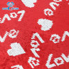 Red and White Love Reversible Sequin Fabric for Pillow Upholstery