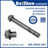 8X10X90 Expansion Sleeve Anchor Bolts Screws with Dacromet Plated