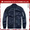High Quality Best Price Navy Blue Satin Bomber Jacket (ELTBJI-47)