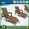 Wicker Sun Lounge Outdoor Garden Lounge with Adjustable Backrest