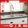 Drop in Kitchen Sink, Stainless Steel Equal Double Bowl Top Mount Kitchen Sink