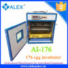 Automatic 176 Chicken Eggs Poultry Incubator Machine with CE Certificate