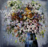 Heavy Oil Flower Oil Paintings by Palette Knife From Workshop