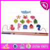 2015 Magnetic Kids Fishing Game Toys, Funny Play 13 PCS Wooden Fishing Game Toy, Promotion Children Fishing Toy with En71 W01A086