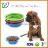 5 Inch Collapsible Travel Silicone Pet Bowl