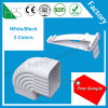 Excellent White Black 2 Color PVC Plastic Roof Gutter