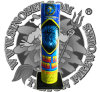 "No. 500 Blue to Silver Wave 3"" Shell Tube Cake Fireworks"