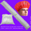 Waterproof Transparent Poly/HDPE/LDPE/Plastic/Clear/Mob/Mop Disposable PE Shower Cap for Hotel/Travel Bath/Bathing with Pleated/Crimped/Strip/Clip/Stripe Shapes