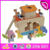 Funny Wooden Construction Building Toys for Kids, Wooden Toy Building Toys for Children, DIY Wooden Building Toys for Baby W12D012
