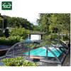 Telescopic Swimming Pool Cover with Clear Polycarbonate Roofing